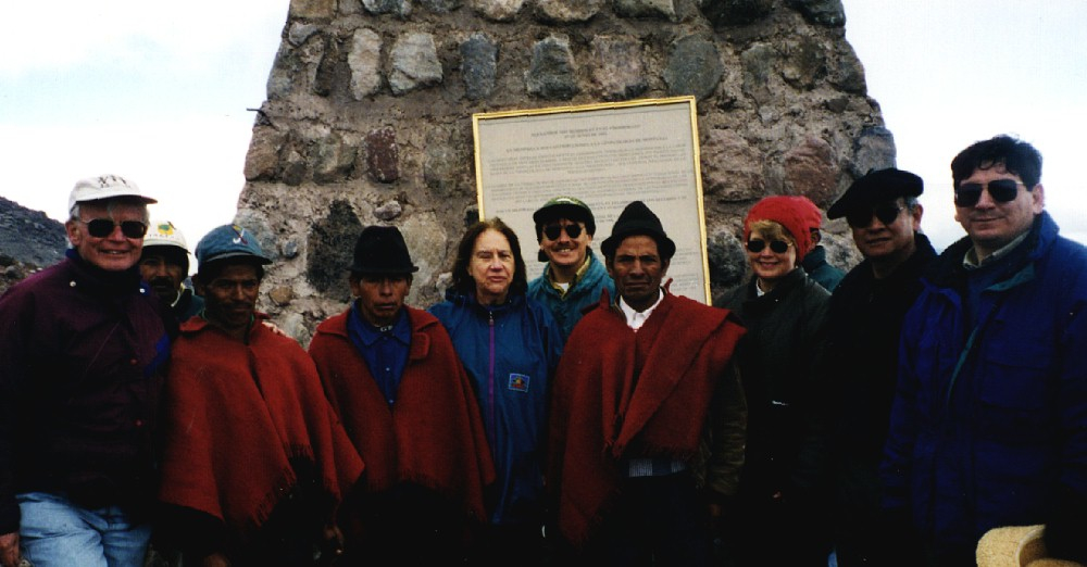 Dedication for Montology (Humboldt memorial cairn) on Chimborazo
