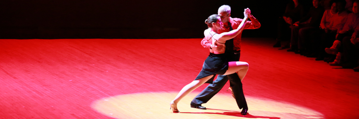 Fuad Elhage and Natalie Cox Tango performance at 2015 Ballroom Magic