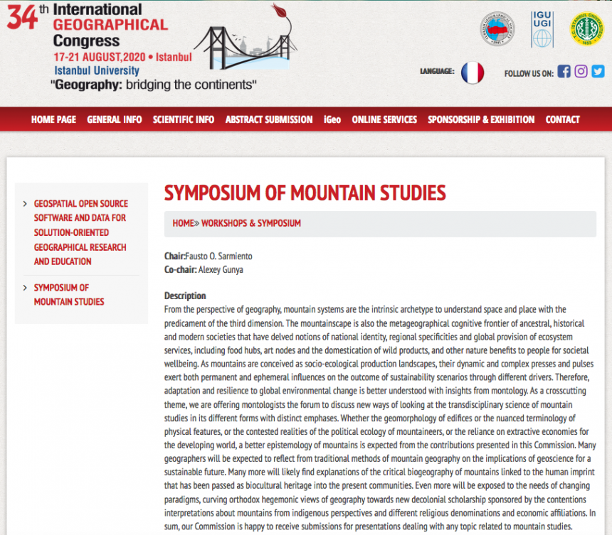 Symposium on Mountain Studies